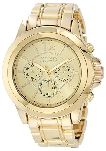 New Xoxo Watch Women'S Watch Xo5589 Gold Tone Bracelet With Gold Dial Ladies Watch front-874437