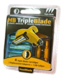 HeadBlade HB TripleBlade Shaving System Cartridges, Ultimate Headcare