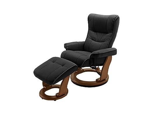 Relax Sessel Montreal mit Hocker von Confortevoli Fernsehsessel Schwarz