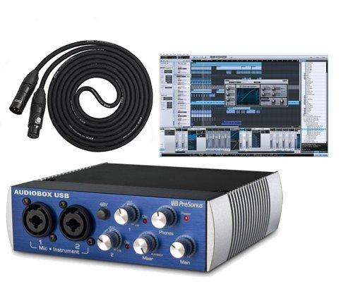 Presonus Audiobox Usb Daw Recording Bundle With Studio One Artist Recording Software And 10Ft Lyx Lcs Premium Xlr Cable