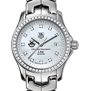 Columbia University TAG Heuer Watch - Women's Link Watch with Diamond Bezel