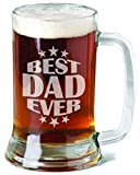 Best Dad Ever American Personalized Beer Stein 16 Oz Daddy Papa New Father Fathers Day Gift From Daughter Son Kids