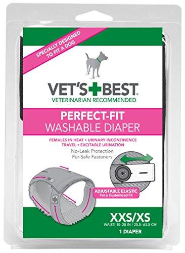 Vet's Best Perfect-Fit Washable Female Diaper - XXS/XS