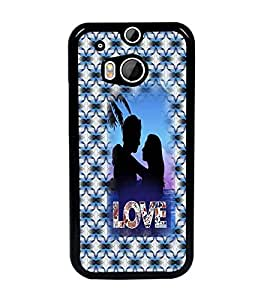 PrintDhaba Couple D-3550 Back Case Cover for HTC ONE M8 EYE (Multi-Coloured)