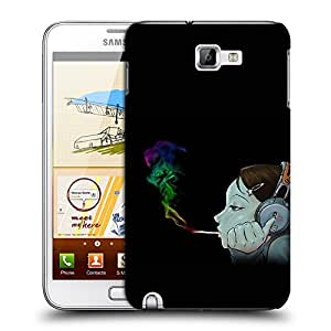 Snoogg Girl Smoking Designer Protective Back Case Cover For Samsung Galaxy Note 1