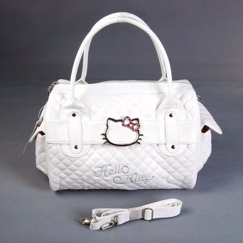 Hello Kitty Shopping Bag Handbag Tote Purse White