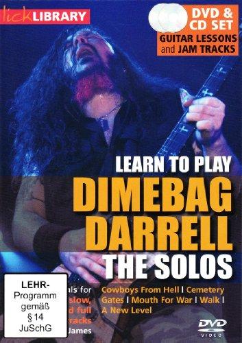 Lick Library: Learn To Play Dimebag Darrell - The Solos [Edizione: Regno Unito]