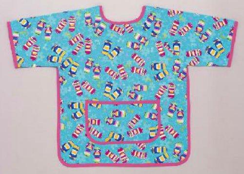 Mullins Square Kids / Laminated Cotton Paint Smock, Flip Flops