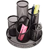 Osco Mesh Pencil Pot Scratch-resistant with Non-marking Base 5 Tube Black DT5 B