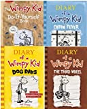 img - for Diary of a Wimpy Kid 4 Book Collection (Dog Days; Third Wheel; Cabin Fever; Do-It-Yourself) book / textbook / text book