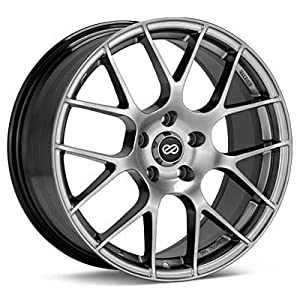 Enkei RAIJIN- Tuning Series Wheel, Hyper Silver (19×8.5″ – 5×114.3/5×4.5, 35mm Offset) One Wheel/Rim