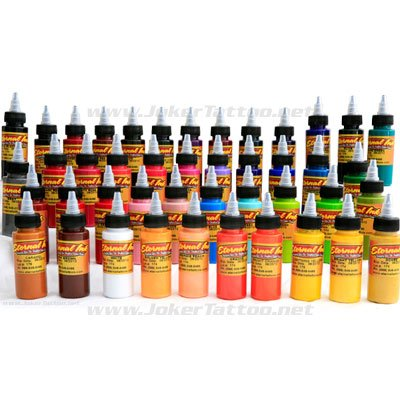We have Eternal Tattoo Ink 44 Color Set 1oz bottles with
