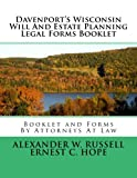 Davenport's Wisconsin Will And Estate Planning Legal Forms Booklet