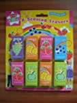 8 Childrens Kids Fruit Scented Rubber...