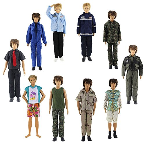 ZITA ELEMENT Lot 5 PCS Fashion Casual Wear Clothes/outfit for Barbie`s Boy Friend Ken Doll