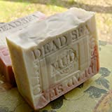 Handcrafted Natural French Provence Lavender Soap with Rose Clay and Dead Sea Mud from Israel - Shea Butter and Lavender Butter Handmade.