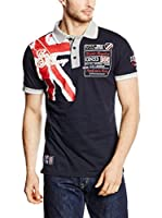 Geographical Norway Polo Kiltss (Azul Marino / Rojo / Blanco)