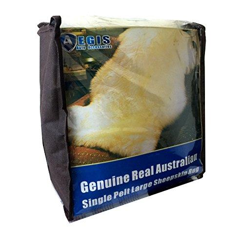 Aegis cover(TM) Genuine Real Australian Single Pelt Large Sheepskin Rug(Real 2 ft+ x 3.5 ft)