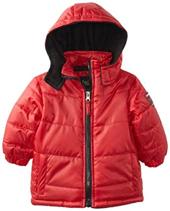 iXtreme Baby Boys' Solid Ripstop Puffer, Red, 12 Months