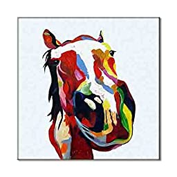 Artisan New Style Popular Canvas Prints Colorful Animals Creative Art Picture HD Artwork Painting Image Cute Horse Design