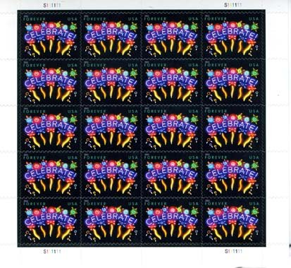 Celebrate 20 x Forever US Postage Stamps