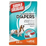 Simple Solution Fashion Disposable Diapers, 12 Count, Large