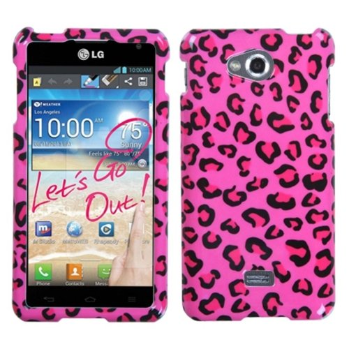 Mybat Lgms870Hpcim715Np Slim And Stylish Snap-On Protective Case For Lg Spirit Ms870 - Retail Packaging - Pink Leopard Skin
