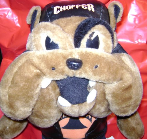 Motorcycle Chopper Biker Bull Dog Stuffed Animal Plush Toy - 18 inches tall