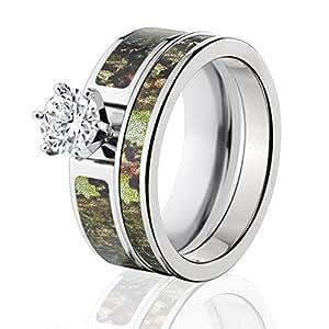 Amazon Mossy Oak Camo Bridal Set Camo Wedding Rings Obsession Camo Rings Jewelry