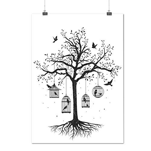 fantastic-cage-tree-bird-dream-matte-glossy-poster-a2-60cm-x-42cm-wellcoda