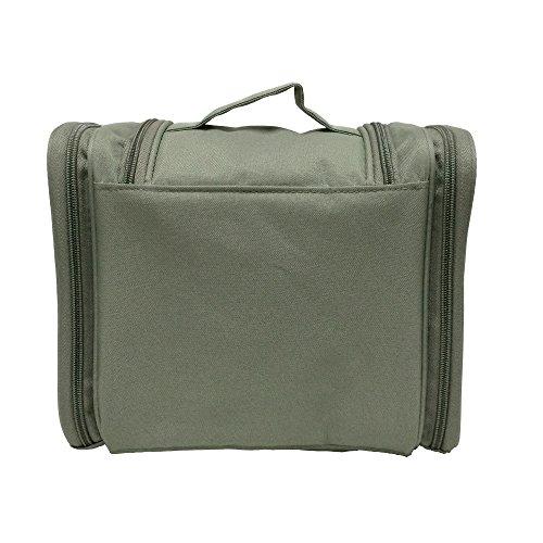 Toiletries Bathroom Travel Bag Organizer For Women Makeup Or Men Shaving Kit With Hanging Grey