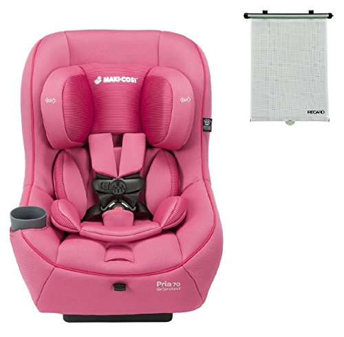 2015-Maxi-Cosi-Pria-70-Convertible-Car-Seat-Pink-Berry-with-BONUS-Retractable-Window-Sun-Shade