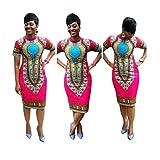 DEESEETM-Women-Traditional-African-Print-Dashiki-Bodycon-Sexy-Short-Sleeve-Dress