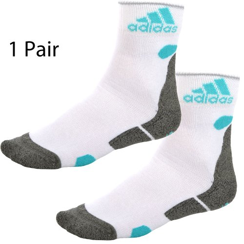 1 Pair of Adidas Running Gym White Socks X18151