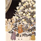 Children touching decorations in a Christmas tree, by H.W. Le Mair (V&A Custom Print)