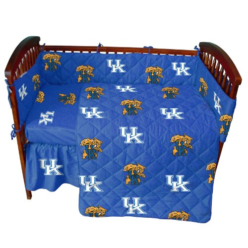 Kentucky Wildcats 5 Piece Crib Set And Matching Window Curtain Valance - Entire Set Includes: (1) Reversible Comforter, (1) Bed Skirt , (2) Fitted Sheets, (1) Bumper Pad And (1) Matching Window Curtain Valance - Decorate Your Nursery And Save Big By Bundl front-899783