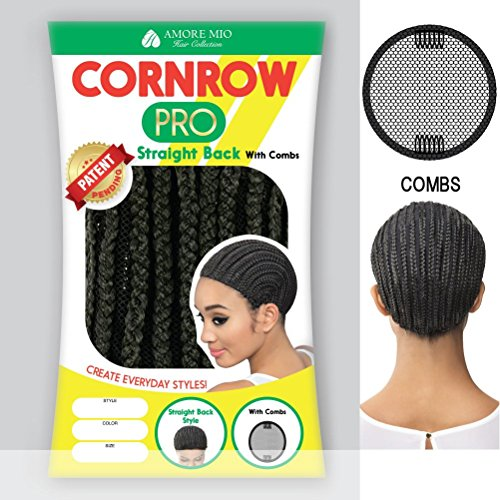 Amore-Mio-CORNROW-PRO-CAP-Straight-Back-with-Combs-Mesh-Weave-Cap