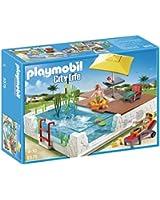 Playmobil - A1502741 - Jeu De Construction - Piscine Avec Terrasse