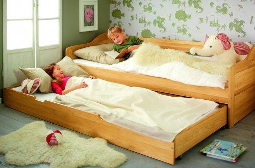 Canapé-lit pliable compartiment pour Nico, fabriqué de bois d'aulne