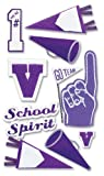 Jolee's Boutique Dimensional Stickers, Purple School Spirit