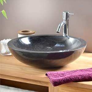 Vasque en marbre Calypso Black Tikamoon