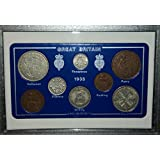 1935 GB Great Britain British Coin Birth Year Gift Set (80th Birthday Present or Wedding Anniversary)