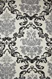Black and Gray Damask Print Ironing Board Cover and Pad