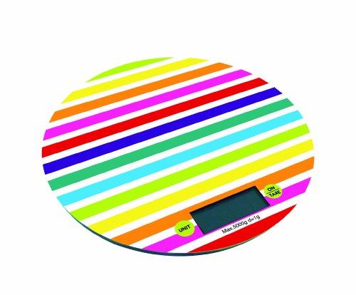 Zak Designs 88-8033R Balance de Cuisine Électronique Rond Rainbow