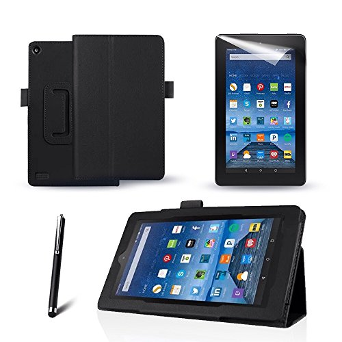mofredr-new-amazon-kindle-fire-7-black-case-slim-fit-folio-premium-leather-standing-case-for-the-ama