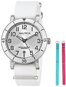 Nautica Women's N11631M Analog Display Quartz White Watch