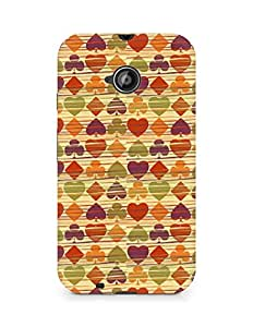Amez designer printed 3d premium high quality back case cover for Motorola Moto E2 (Background heart many colorful texture)