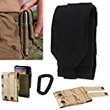Artcraft(TM) L Size Black Molle Camo Bag Military 1000D Nylon Utility Tough Heavy Duty Tactical Compatible Waist Pack Universal Waist Bags Casual Climbing Hiking Outdoor Rock Gear Holster Pouch Cycling Carrying Big Pouch Belt Waist Bag / Pocket for Multi