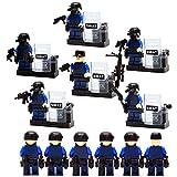 yoshiya SWAT 武器 防具 多数 6体 セット 特殊部隊 ブロック 完全 互換 [並行輸入品]