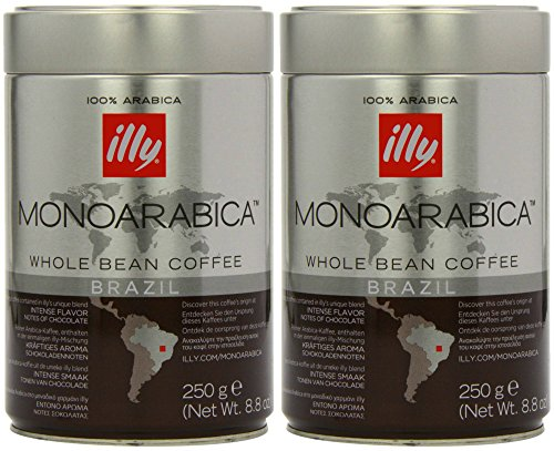 Illy Monoarabica Whole Bean, Single Origin Brazil Coffee Beans 8.8 Ounce (Pack of 2) (Illy Expresso Whole Bean Coffee compare prices)